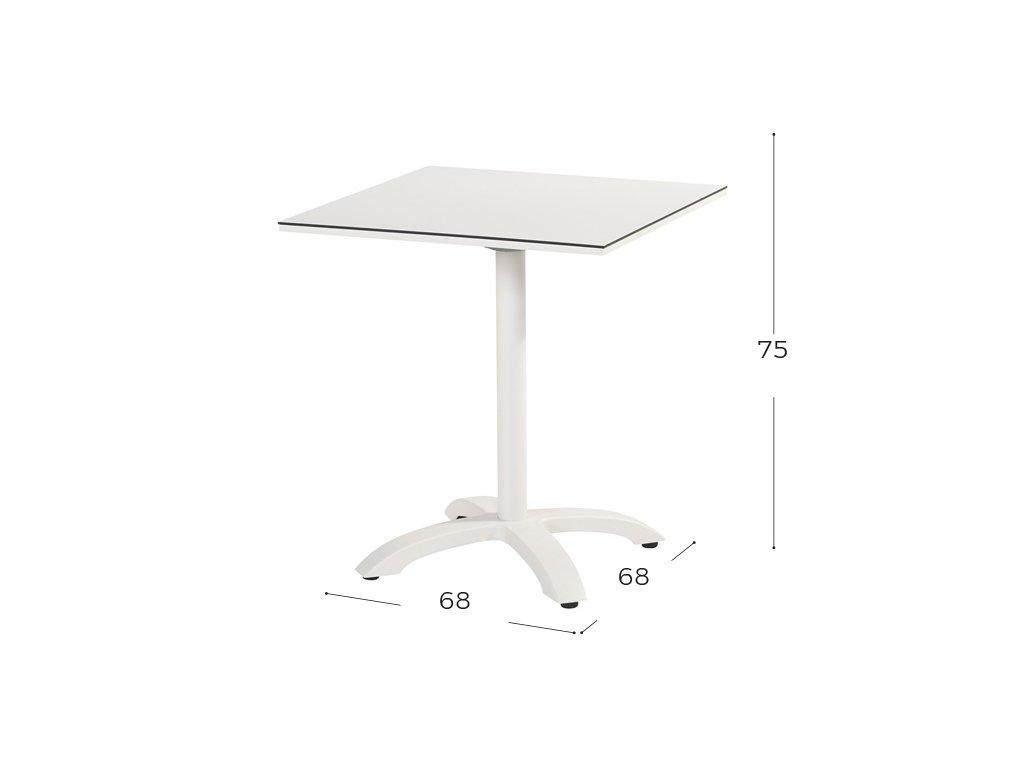 Sophie bistro stůl s HPL deskou 68x68x73cm sklápěcí