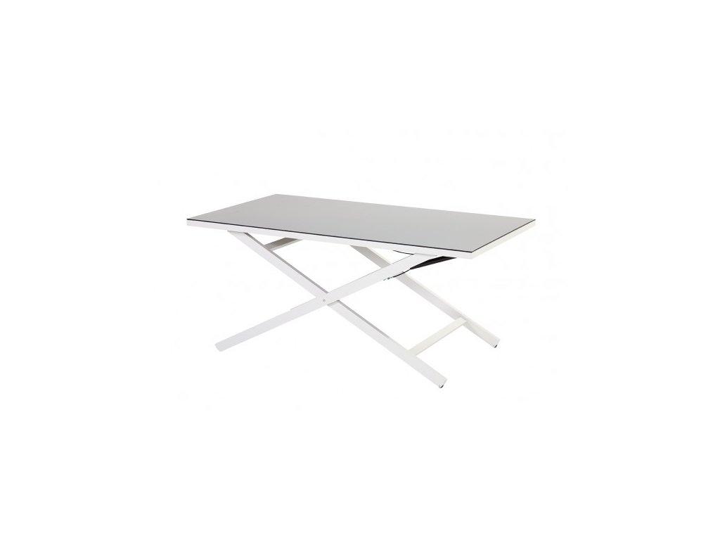 Hartman zahradní polohovací stůl bílý