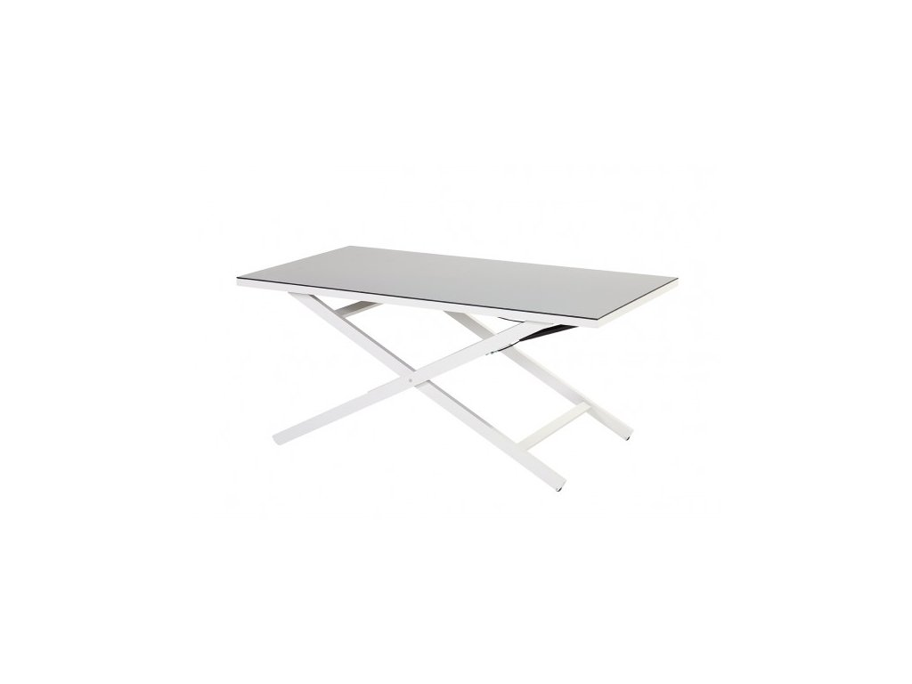 polohovací stůl bílý