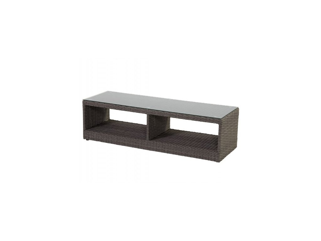 Hartman ratanový stolek nízký se sklem