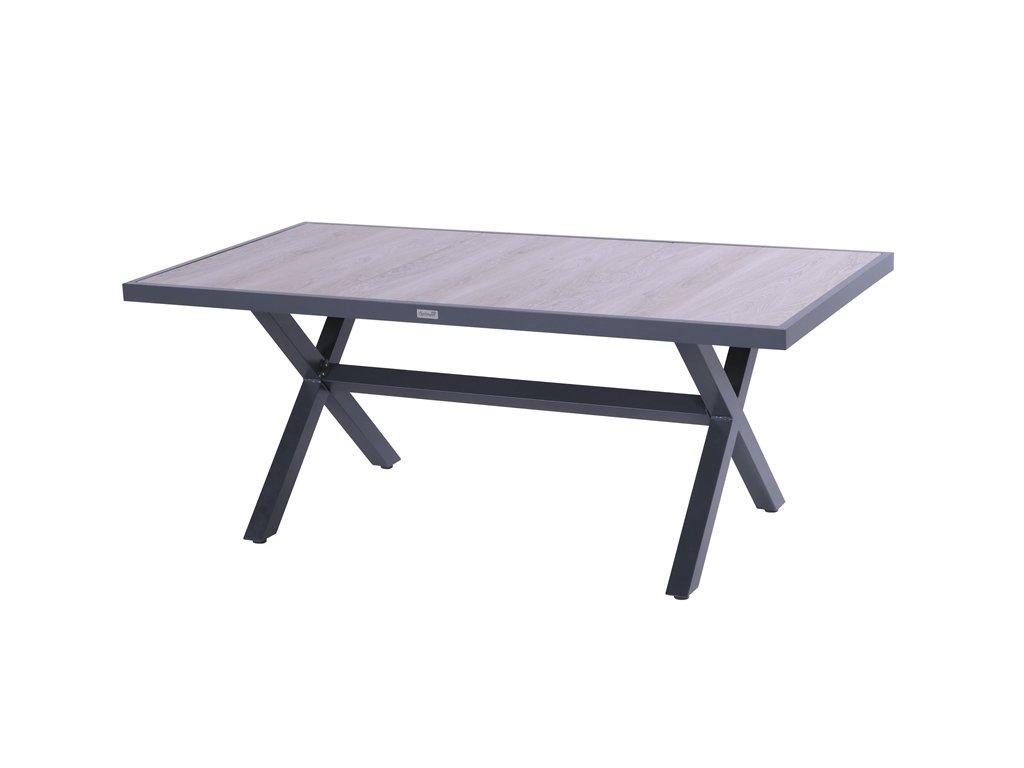 zahradní jídelní stůl s černou podnoží