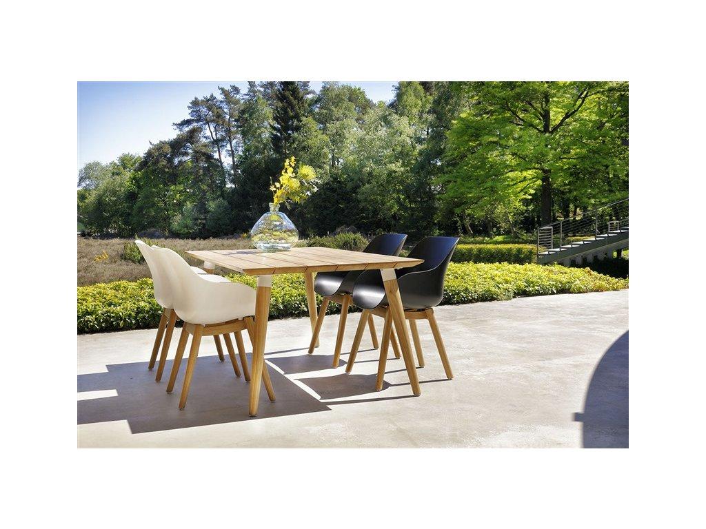 Židle Sophie Organic se teakovým stolem Sophie 180x100 cm