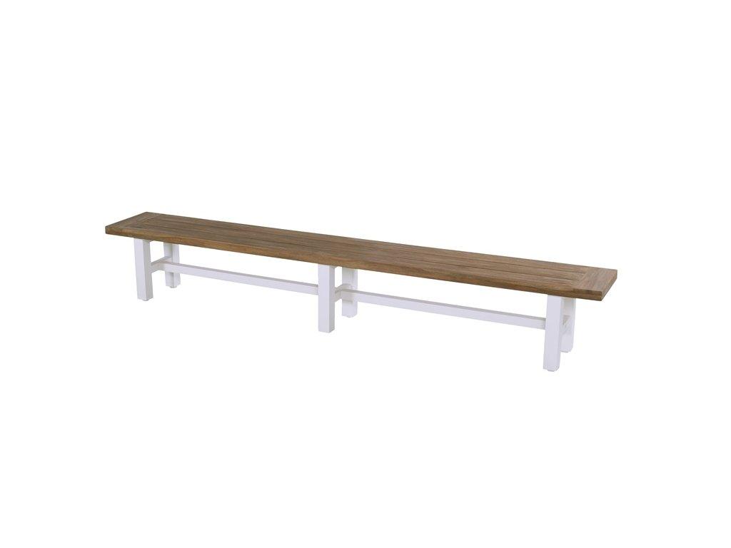 Hartman Zahradní lavice 300 cm bíla podnož