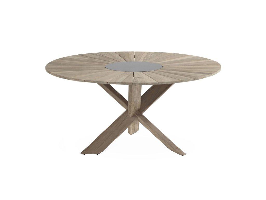 teakový jídelní stůl