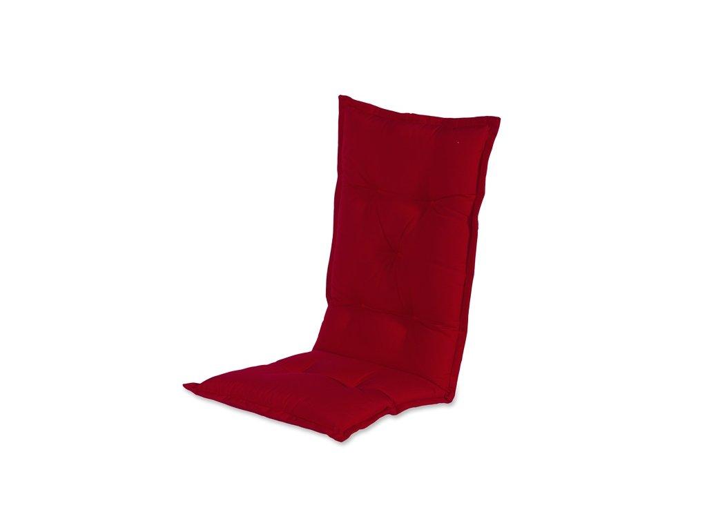 Hartman zahradní červený polstr sedák na polohovací židli