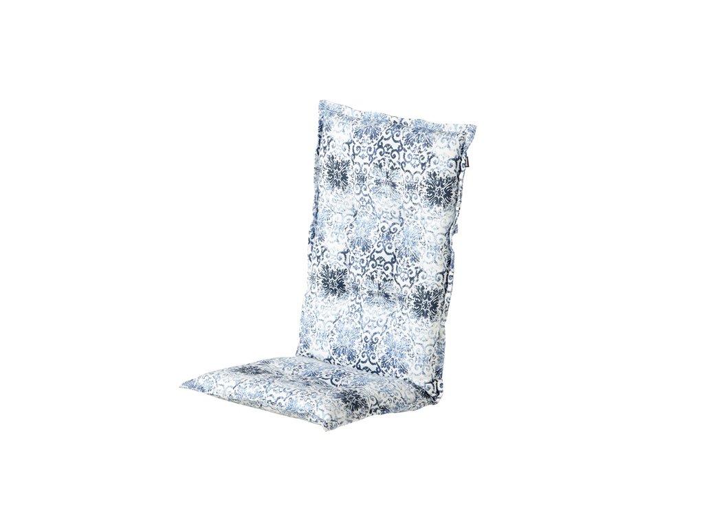 Hartman zahradní polstr sedák na polohovací židli modrá barva