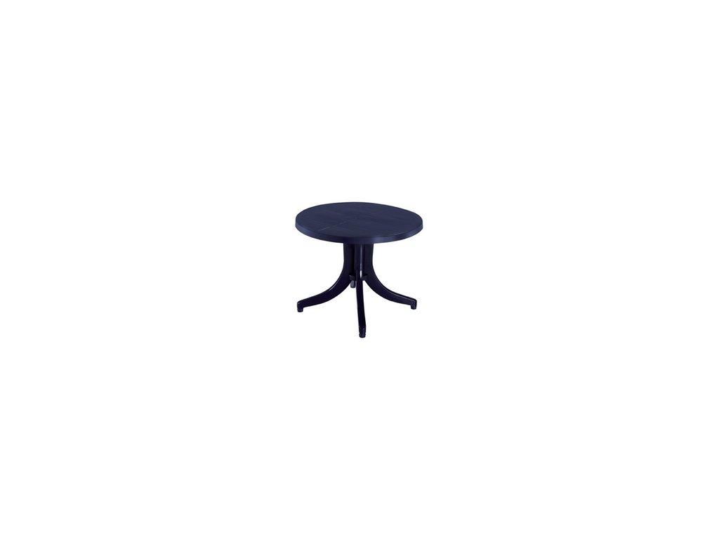 plastový kulatý stůl modrý