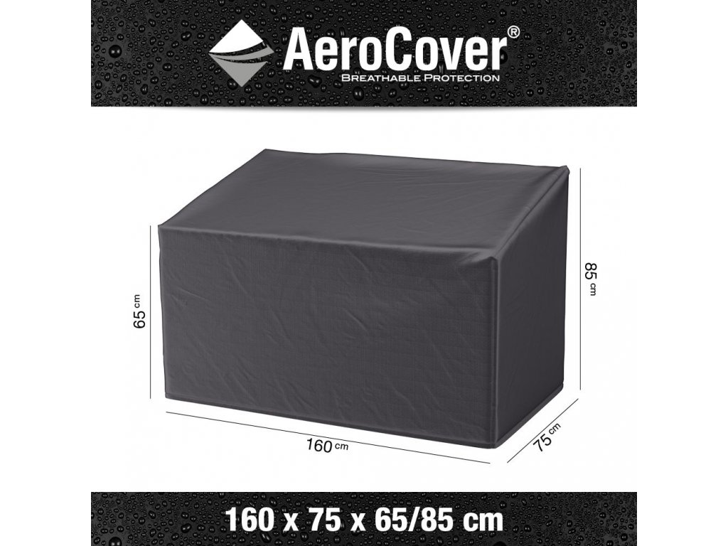 7909 ochranny kryt na zahradni lavici lavicku 160 x 75 x 65 85 cm aerocover