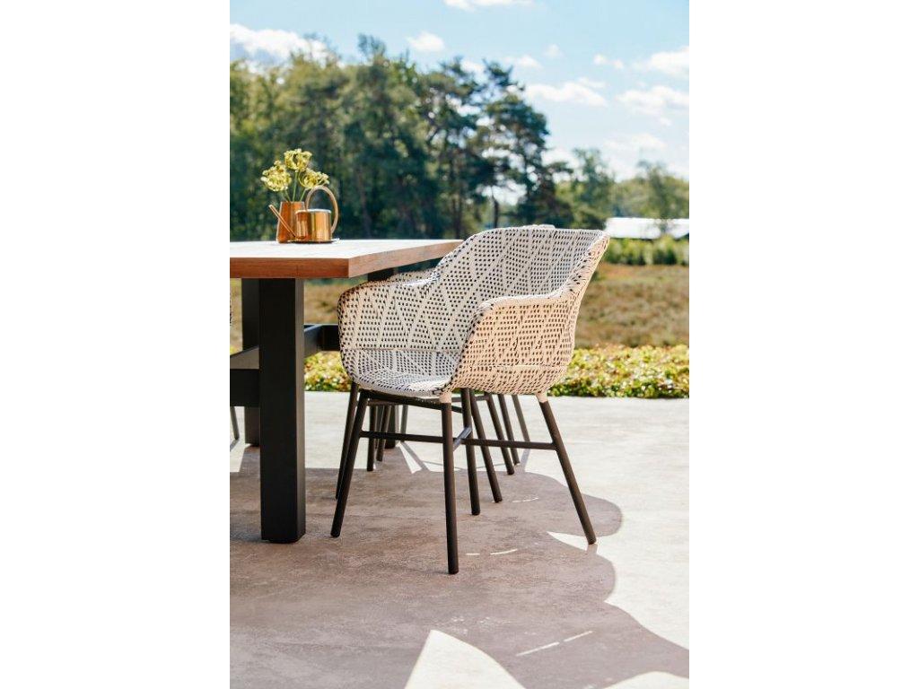 zahradní židle alu a výplet