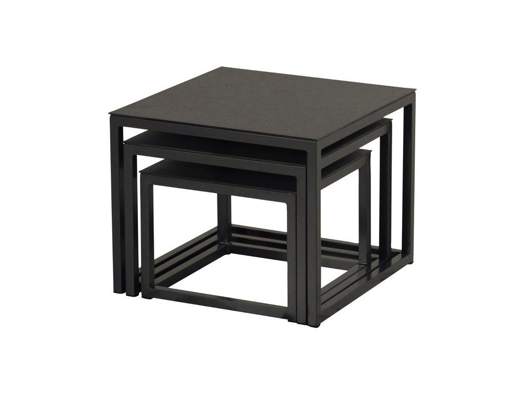 Hartman hliníkové zahradní stolky v barvě černé