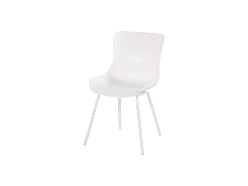jídelní židle s hliníkovou podnoží v bílé barvě