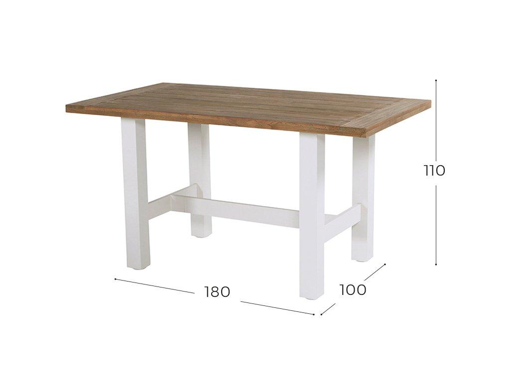 zahradní jídelní barový stůl