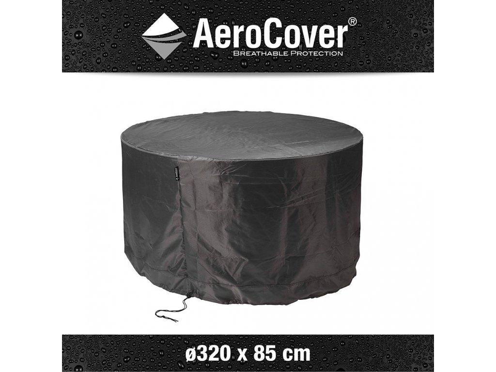 kruhovy ochranny kryt obal kryci zakryvaci plachta na zahradni nabytek a gril aerocover 7917