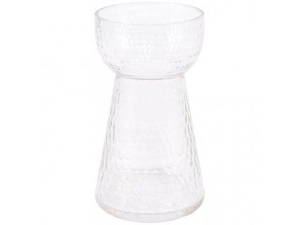 skleněná váza na kytku