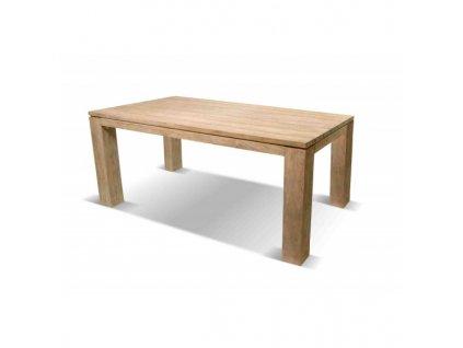 zahradní bytelný dřevěný stůl