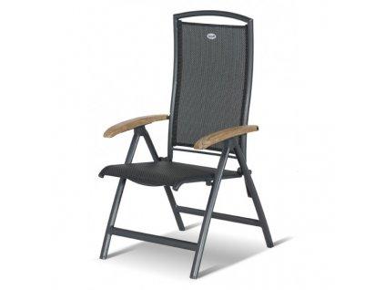 hliníková polohovací židle