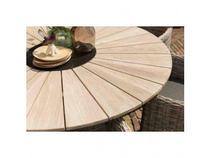 zahradní jídelní stůl s teakovu deskou Hartman