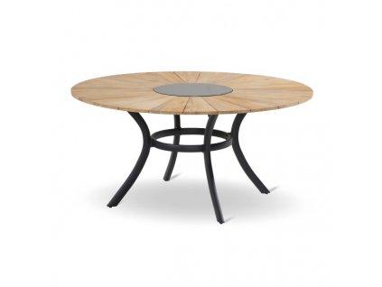 Provence zahradní stůl s deskou 150cm vintage brown