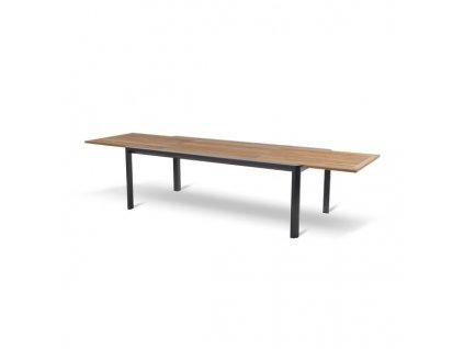 Lille rozkládací zahradní stůl s teakovou deskou