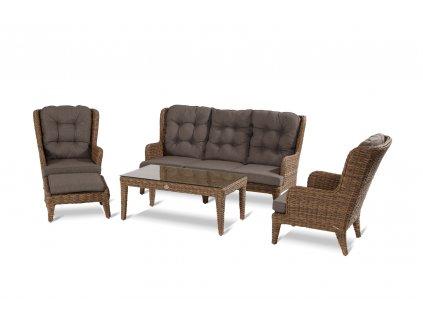 Hartman luxusní relaxační křeslo z umělého ratanu