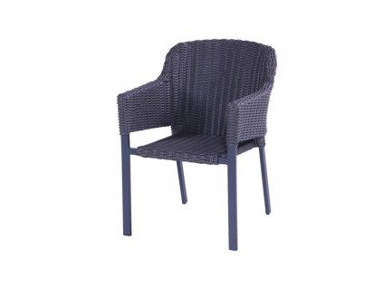 ratanová židle diamont grey oval