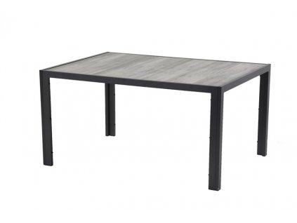 Hartman zahradní jídelní stůl s keramickou deskou černý