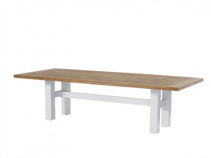 Hartman velký jídelní stůl s dřevěnou deskou a bílé podnoží