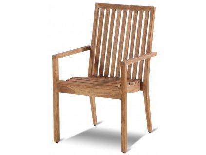 pevná teaková židle
