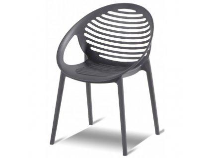 Hartman plastová židle šedá