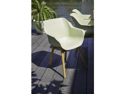 zahradní židle Hartman s teakovou podnoží