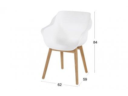 zahradní židle s teakovou podnoží