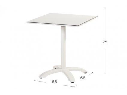 Hartman zahradní stůl bílý skládací