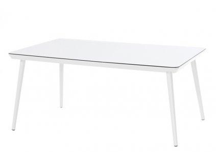 zahradní jídelní stůl bílý retro styl