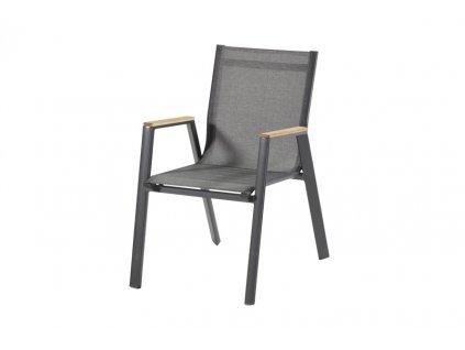Zahradní židle Aruba s teakovými područkami