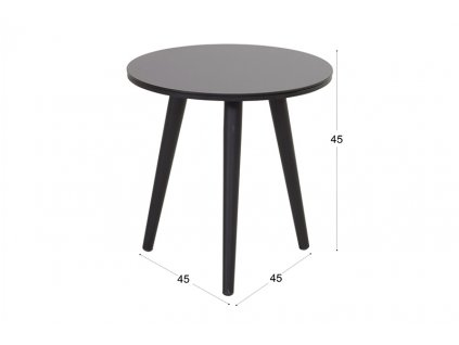 zahradní kulatý stolek Hartman
