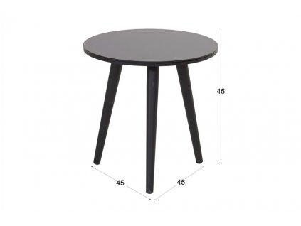zahradní kulatý stolek