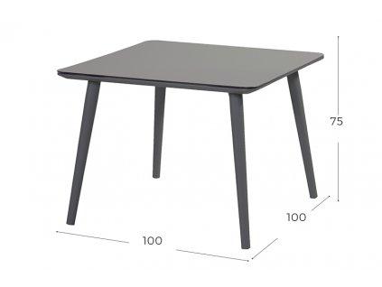 zahradní stůl černý