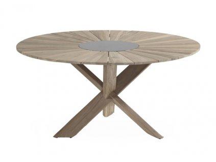 Provence crossleg zahradní stůl v barvě vintage brown