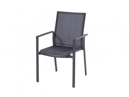 Namur pevná židle s teakovými područkami