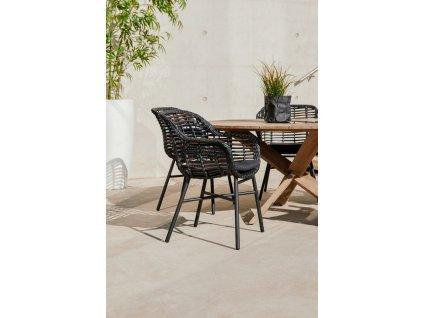 zahradní židle s umělým výpletem