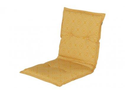 Hartman žlutý polstr sedák potah na zahradní pevnou židli