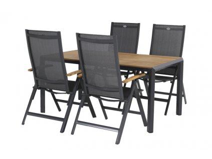 zahradní set Hartman polohovací židle a stůl Hartman