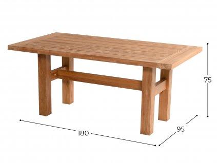 dřevěný jídelní stůl Hartman