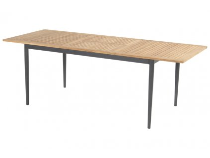 zahradní hliníkový stůl Hartman s teak deskou