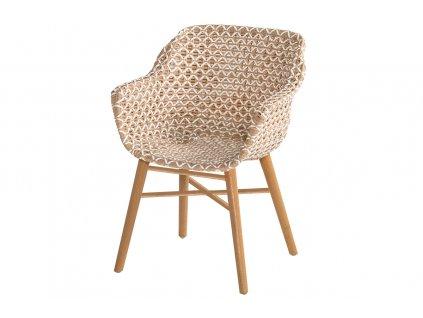 Delphine Hartman jídelní židle s teakovou podnoží