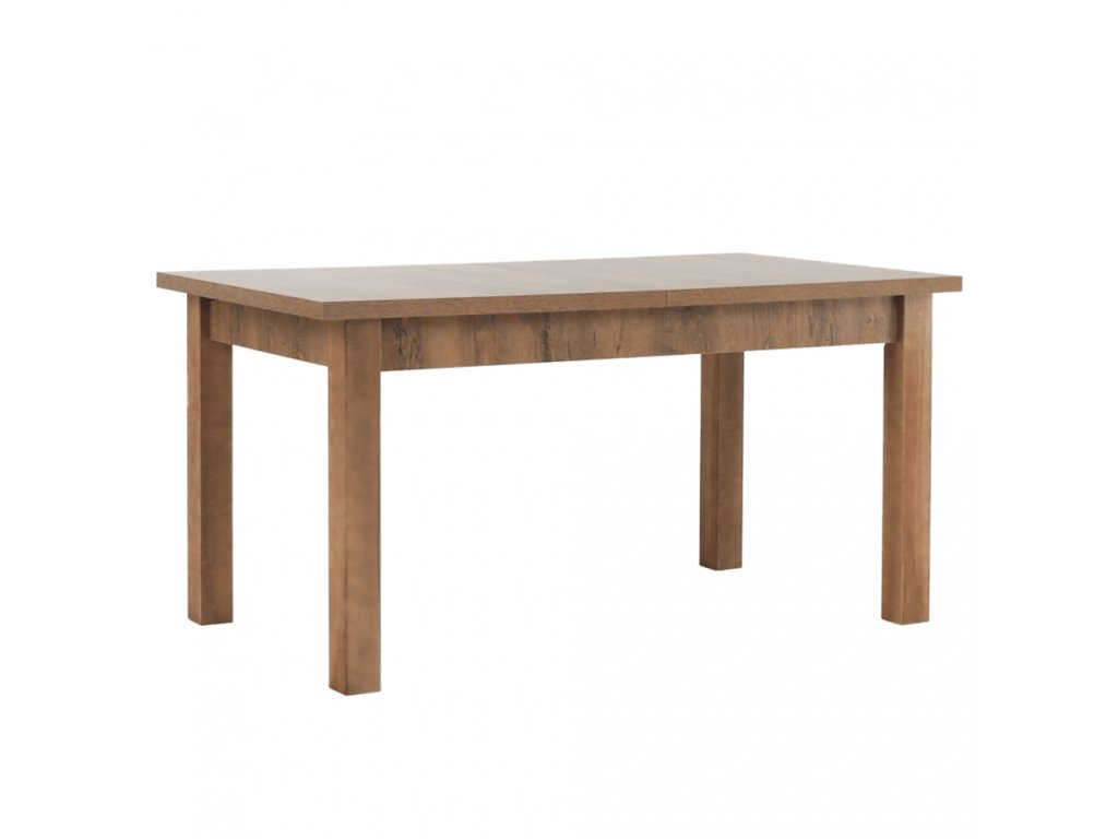 Jídelní stůl, rozkládací, dub lefkas tmavý, MONTANA STW