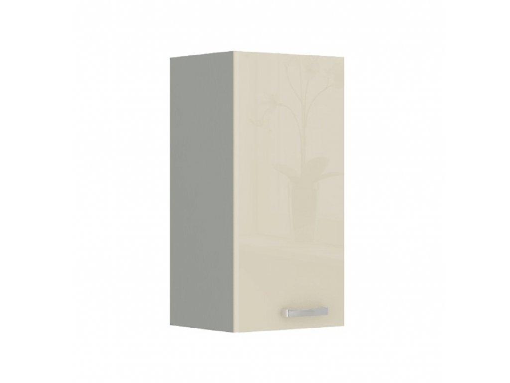 Skříňka horní, krém vysoký lesk, PRADO 40 G-72 1F