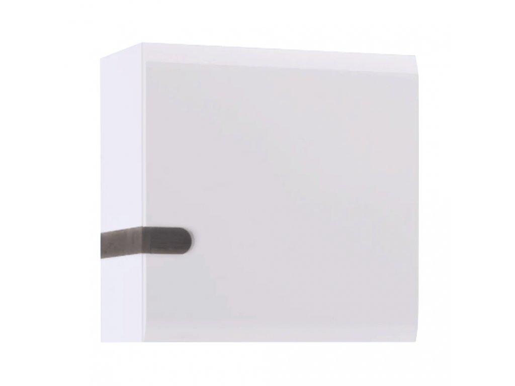 Visící skříňka, bílá extra vysoký lesk HG / dub sonoma tmavý truflový, LYNATET TYP 65