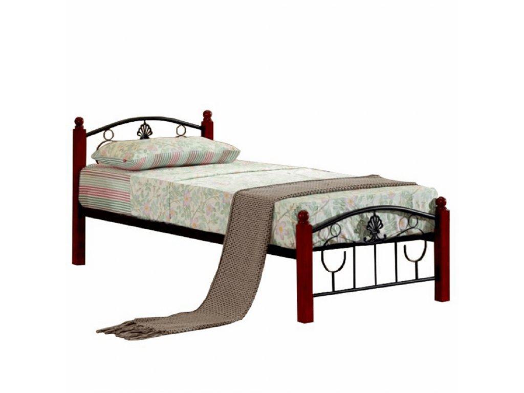Kovová postel s roštem, 90x200, MAGENTA