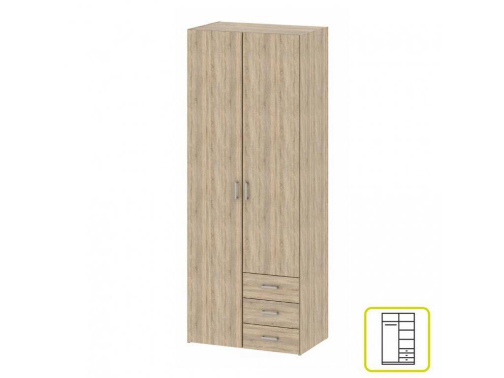 Skříň, 2 - dveřová, dub sonoma, GWEN 70425